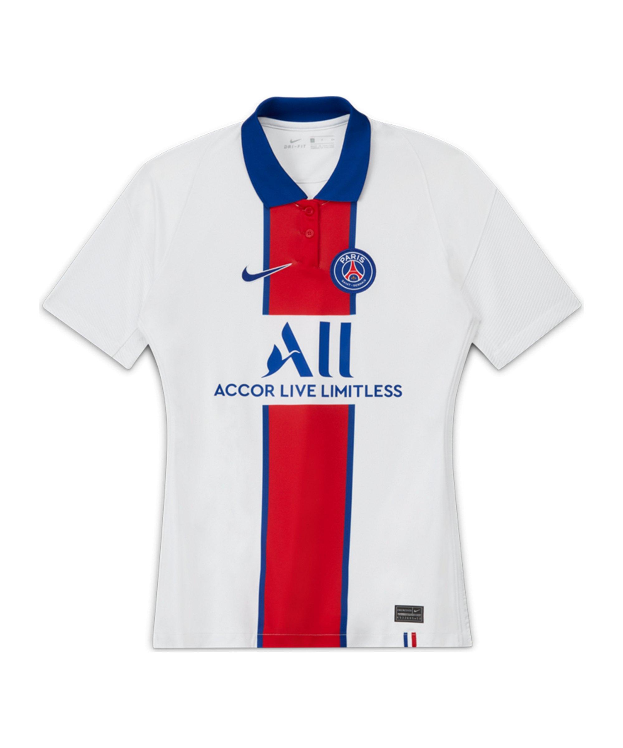 Nike Paris St. Germain Trikot Away 2020/2021 Damen Weiss F101 - weiss