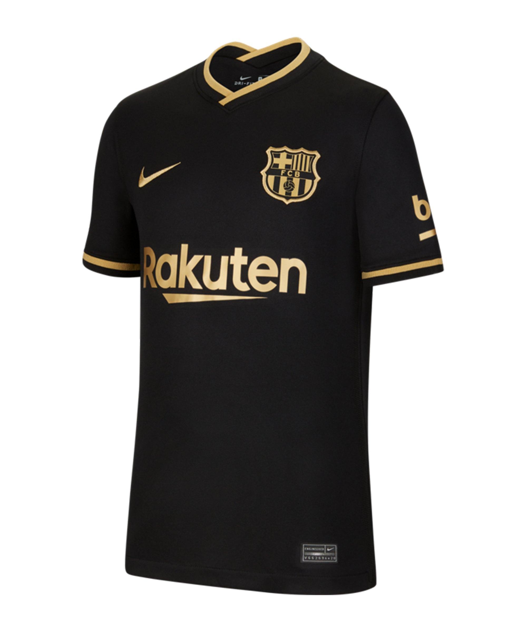 Nike FC Barcelona Trikot Away 2020/2021 Kids Schwarz F011 - schwarz