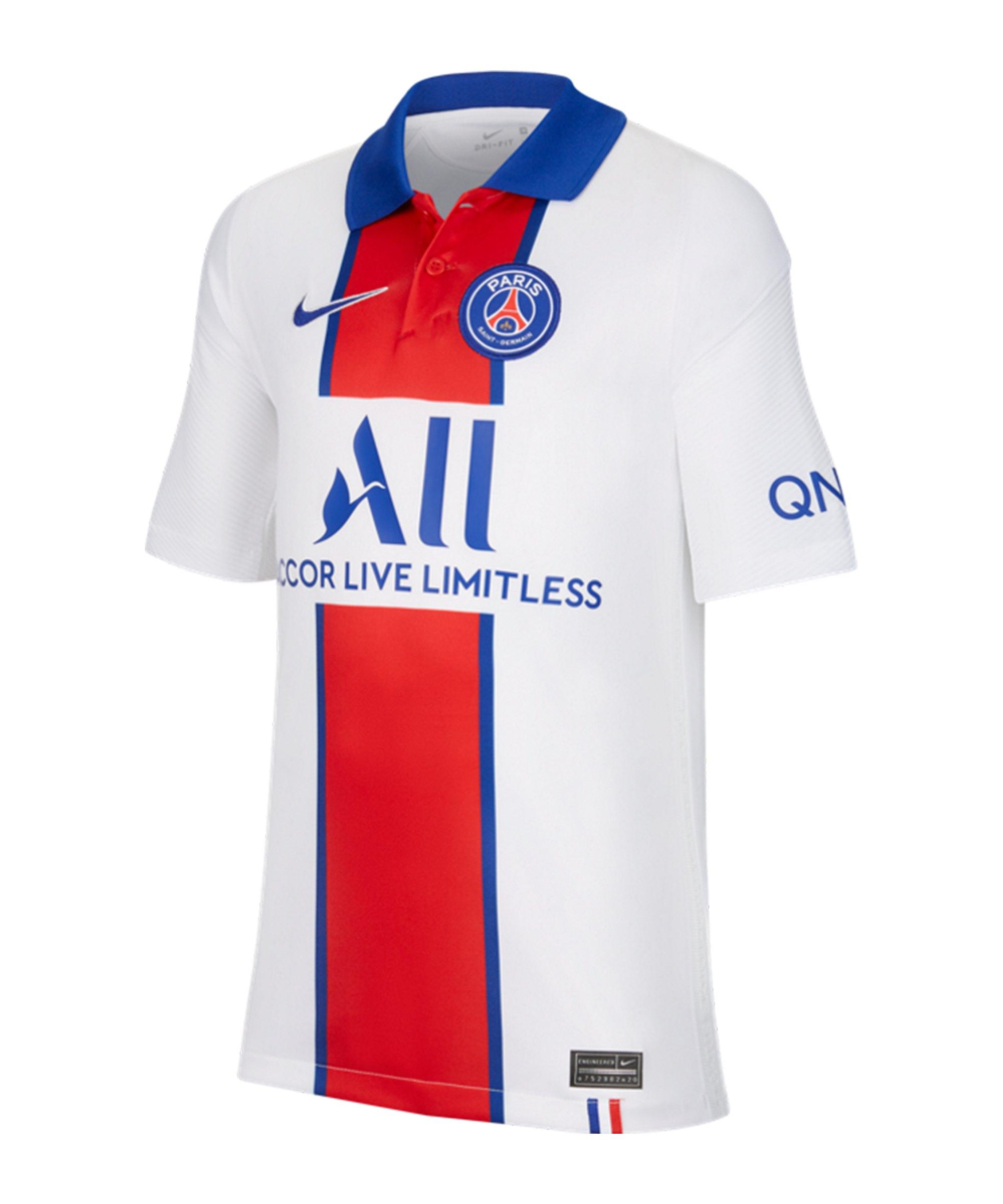 Nike Paris St. Germain Trikot Away 2020/2021 Kids Weiss F101 - weiss