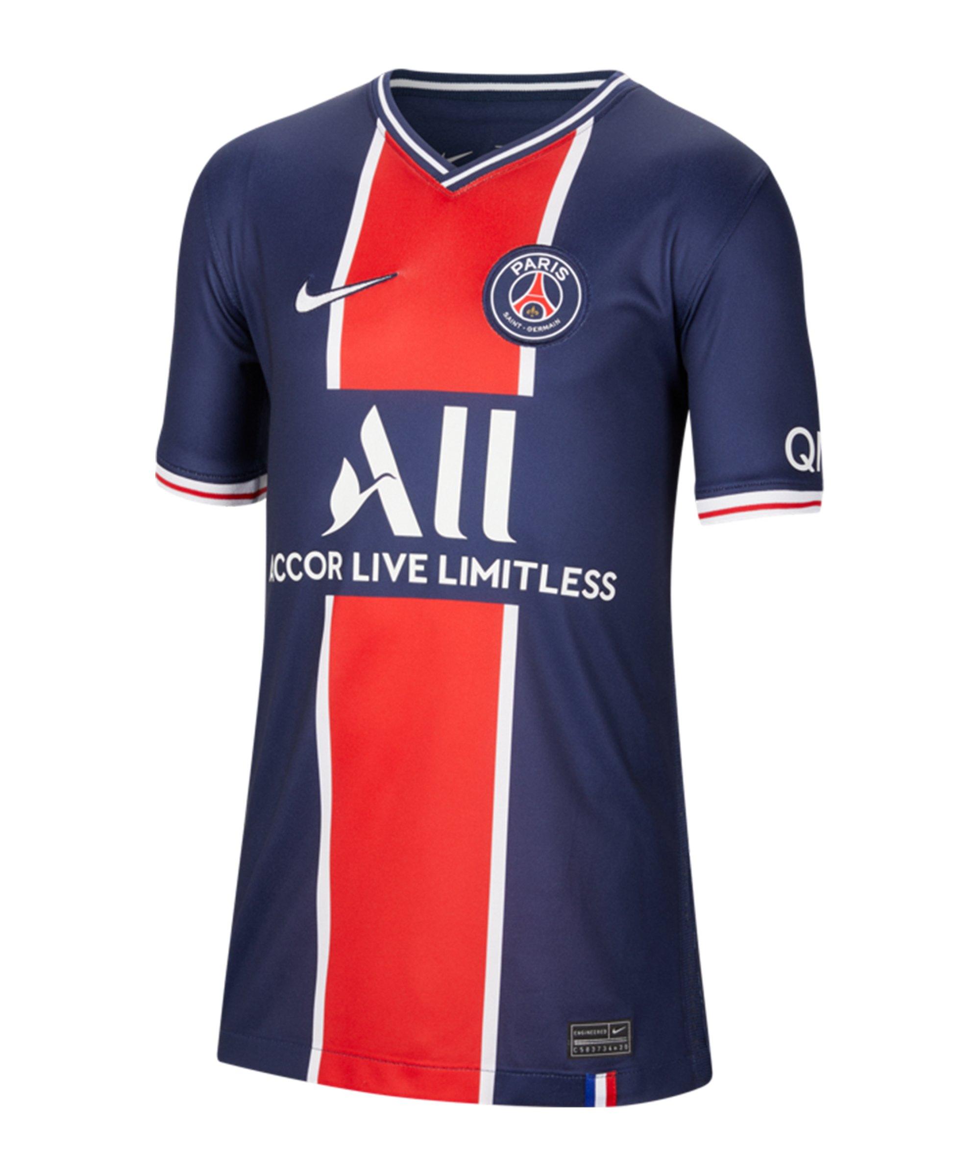 Nike Paris St. Germain Trikot Home 2020/2021 Kids F411 - blau