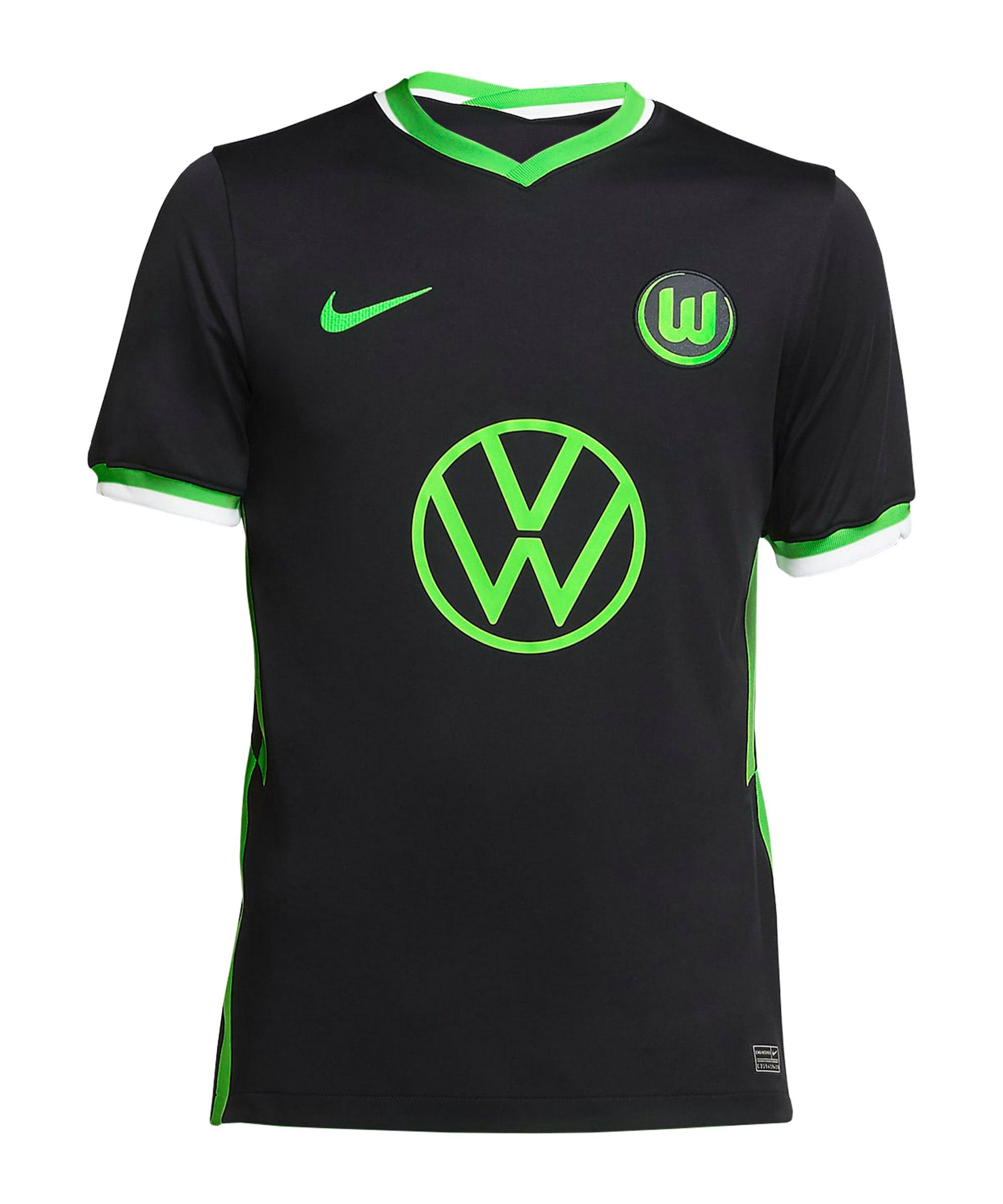 Nike VfL Wolfsburg Trikot Away 2020/2021 Kids Schwarz F011 - schwarz