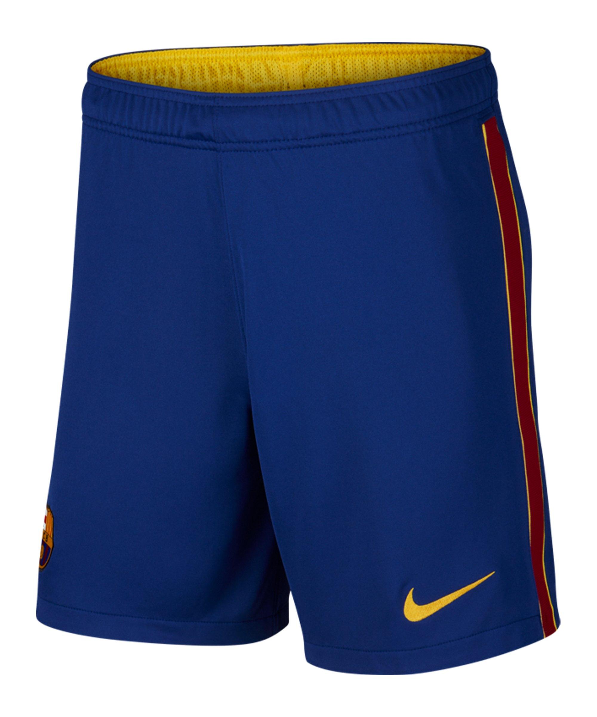 Nike FC Barcelona Short Home Away 2020/2021 Kids F455 - blau