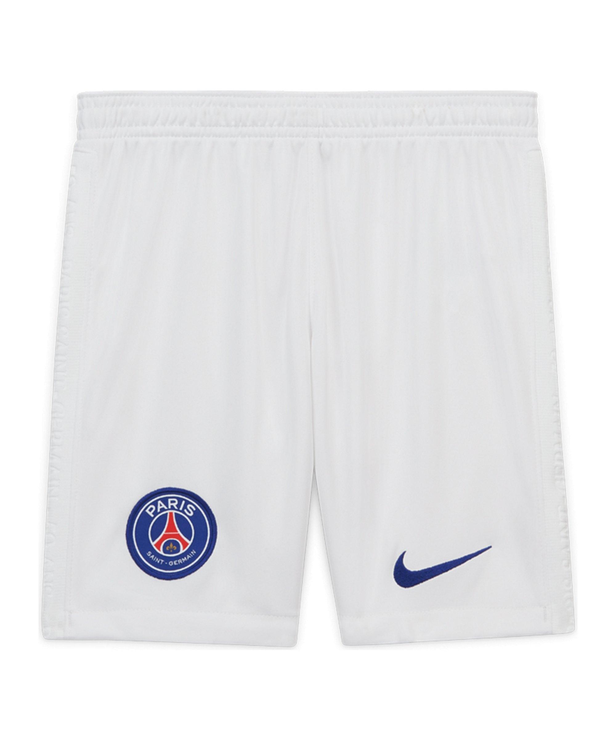 Nike Paris St. Germain Short Home 2020/2021 Kids Weiss F100 - weiss