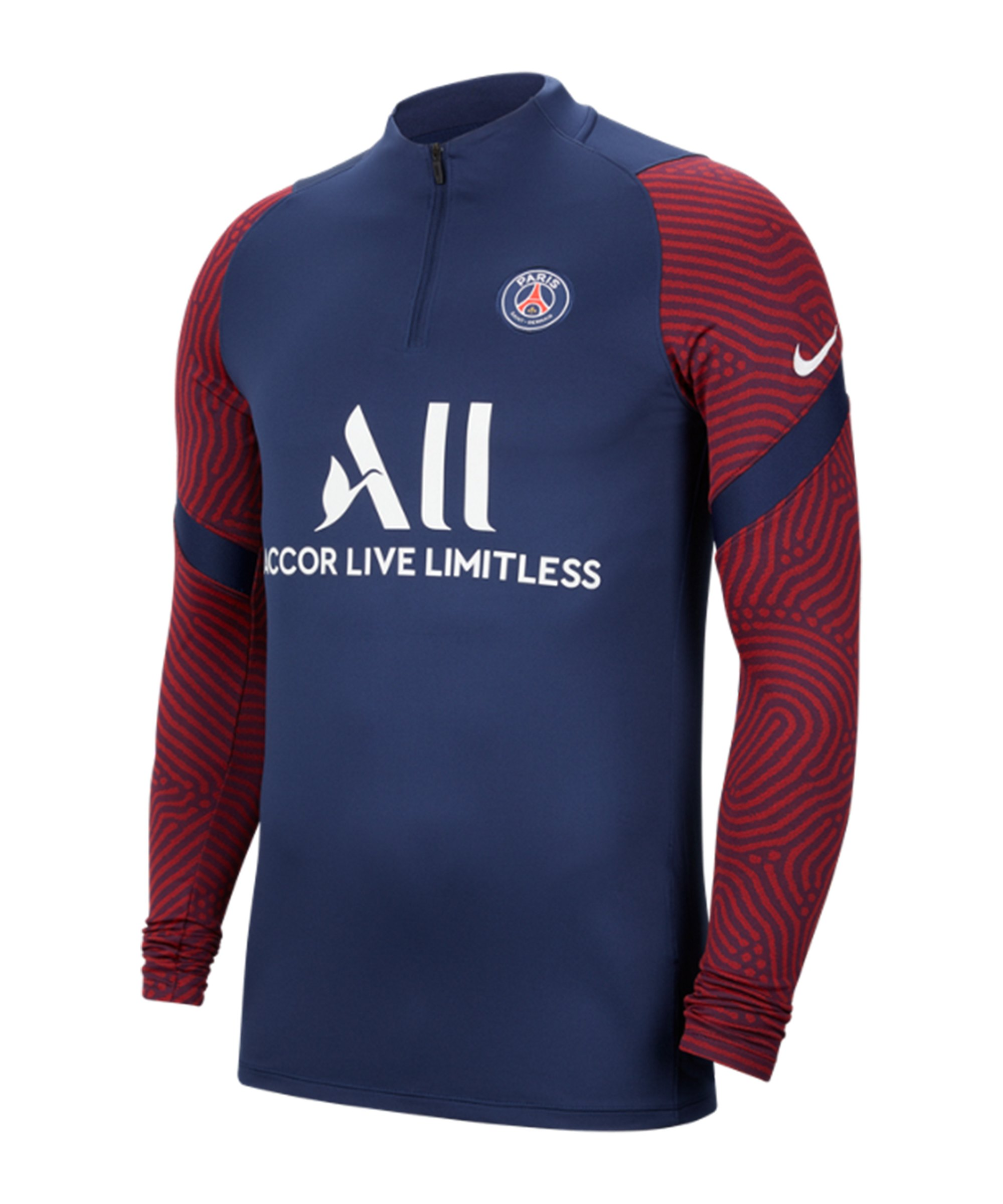 Nike Paris St. Germain Dri-FIT 1/4 Zip Top LS F411 - blau