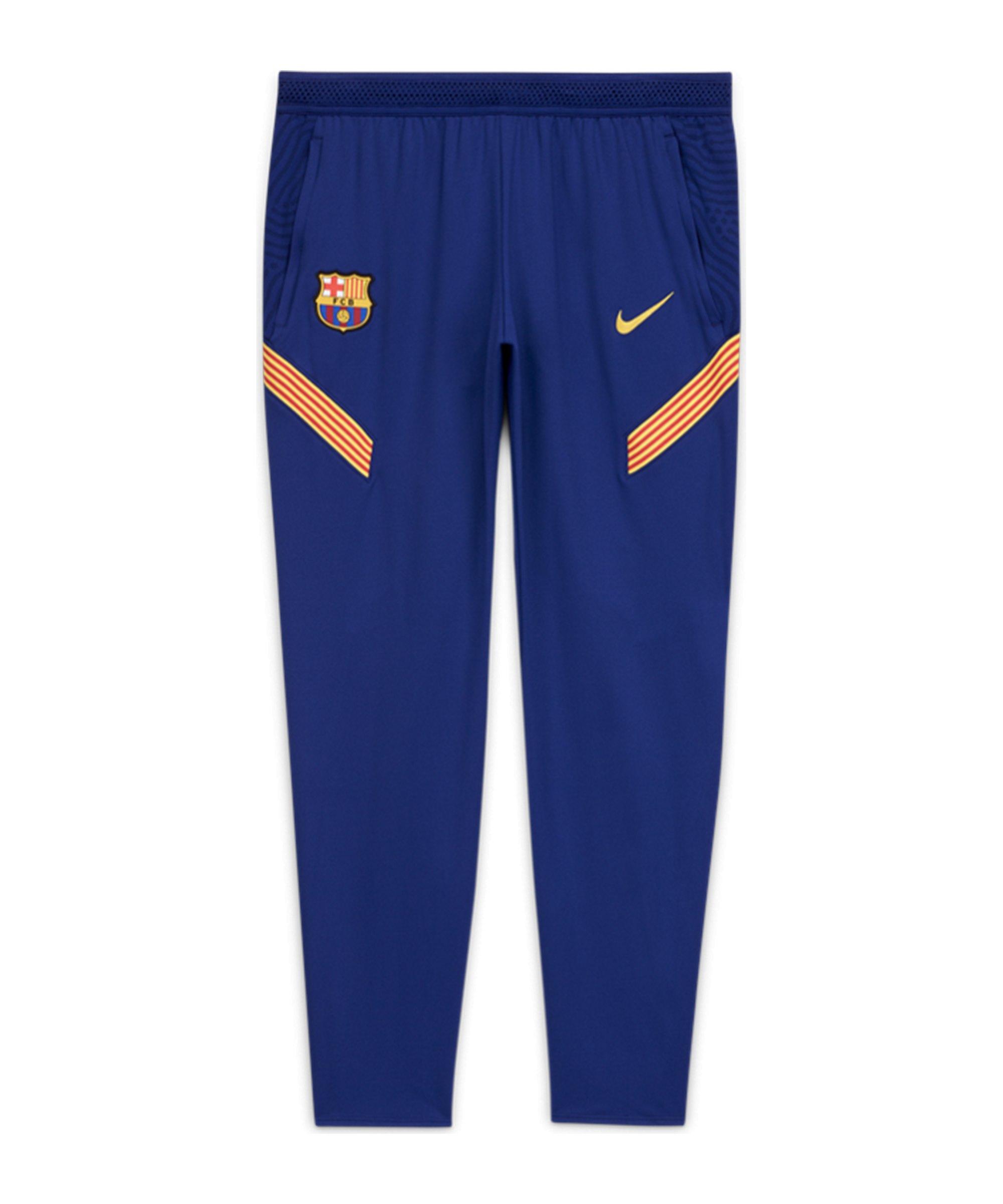 Nike FC Barcelona Dry Strike Pant Hose Blau F455 - blau