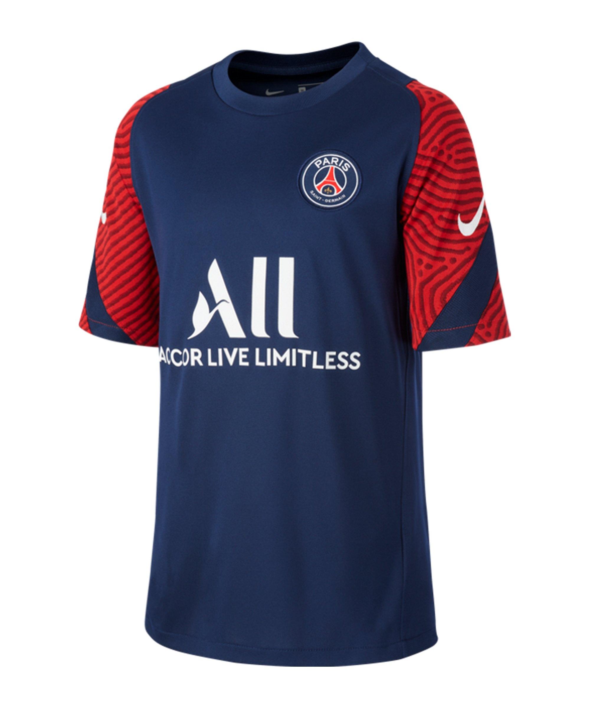 Nike Paris St. Germain Strike T-Shirt Kids Blau F411 - blau