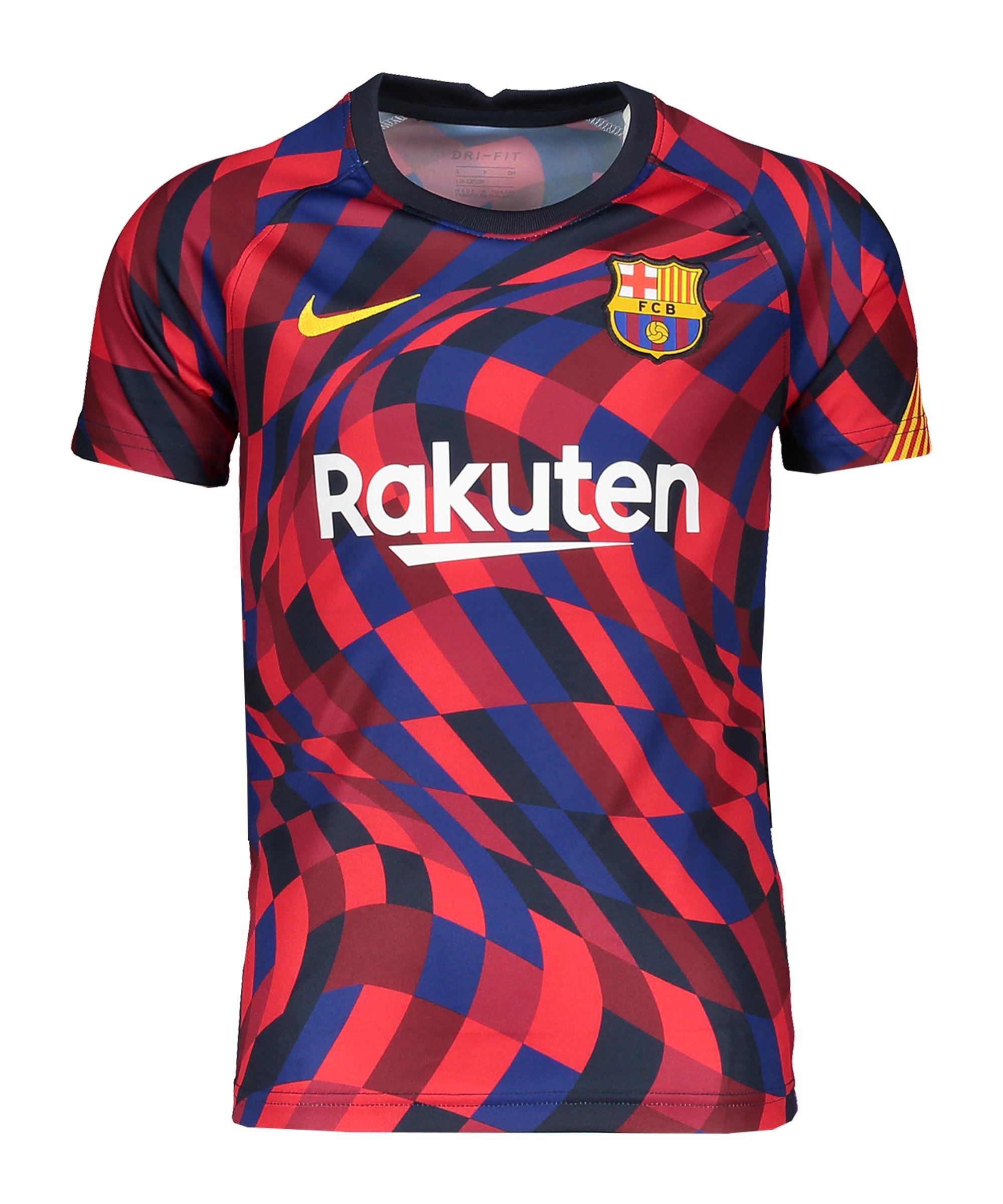 Nike FC Barcelona Vaporknit Dry Top Kids F658 - rot