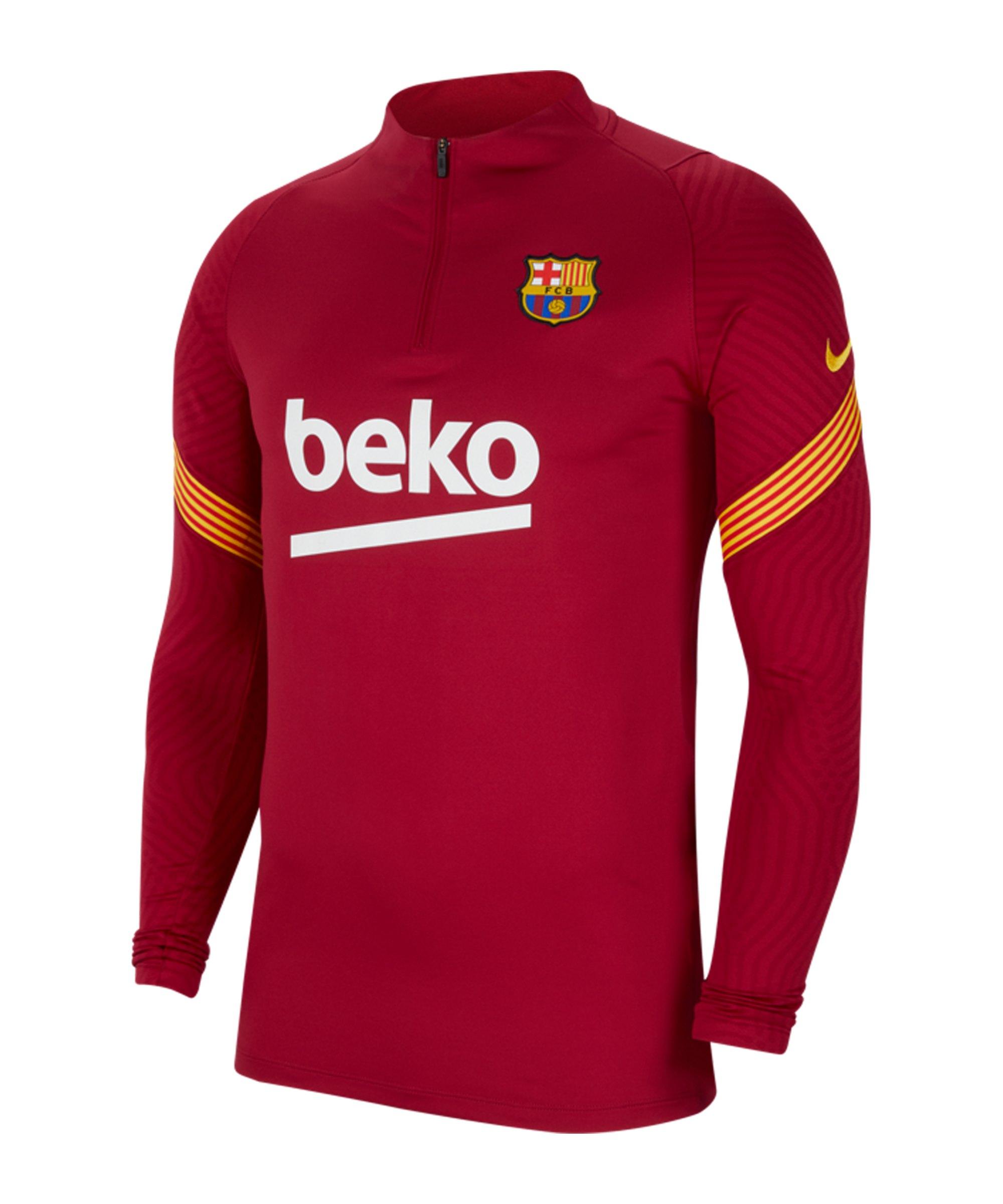 Nike FC Barcelona Dri-FIT 1/4 Zip Top LS F621 - rot