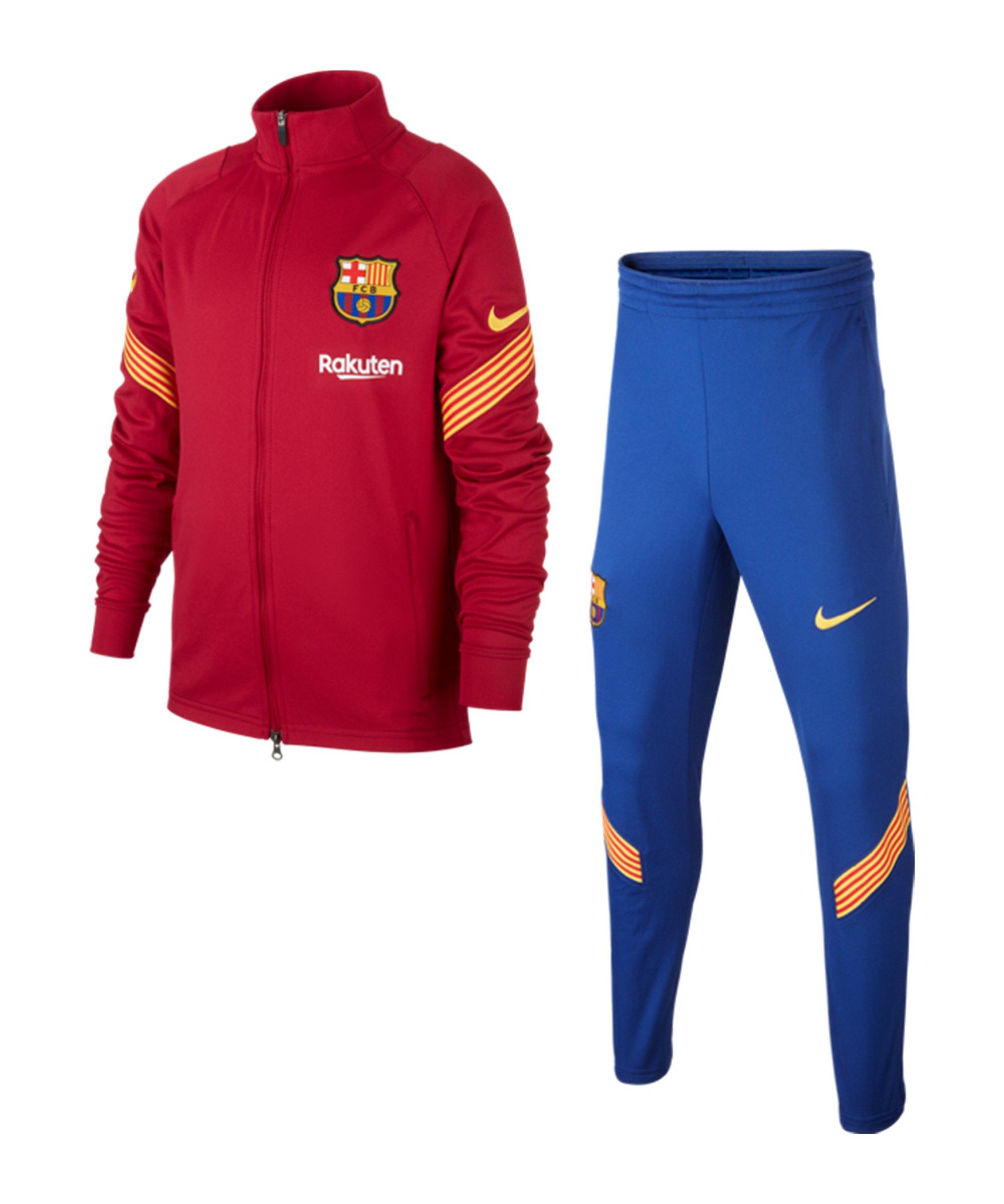 Nike FC Barcelona Trainingsanzug Kids Rot F621 - rot