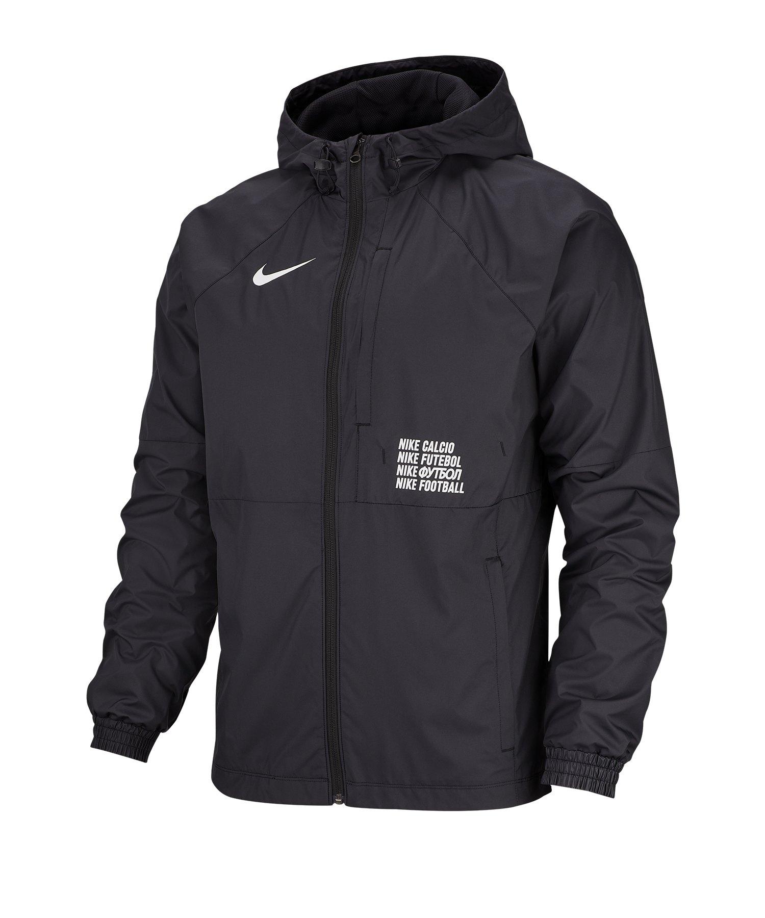 Nike F.C. Windrunner Jacke Schwarz F010 - schwarz