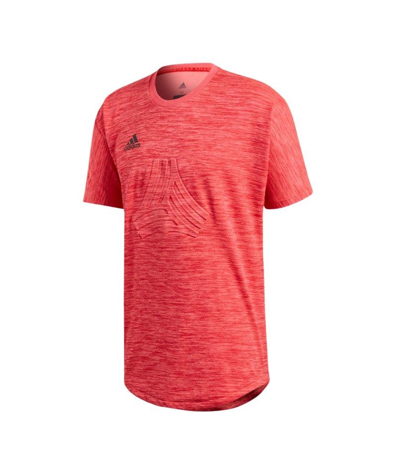 adidas Tango Terry Jersey T-Shirt Rot - rot