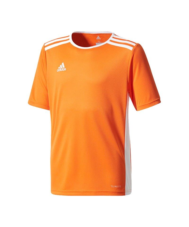 adidas Entrada 18 Trikot kurzarm Kids Orange Weiss - orange