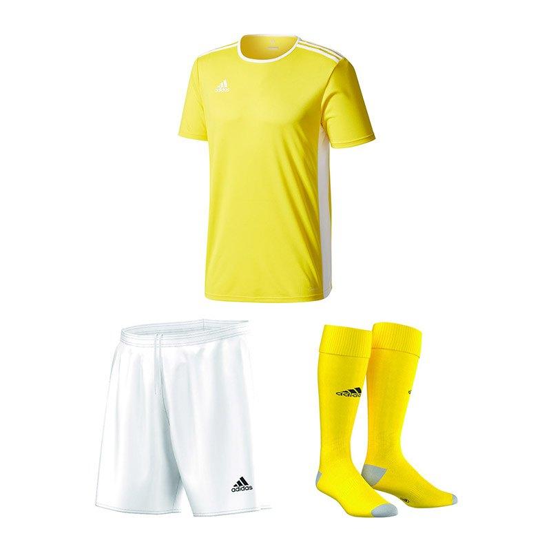 adidas Trikotset Entrada 18 Gelb Weiss - gelb