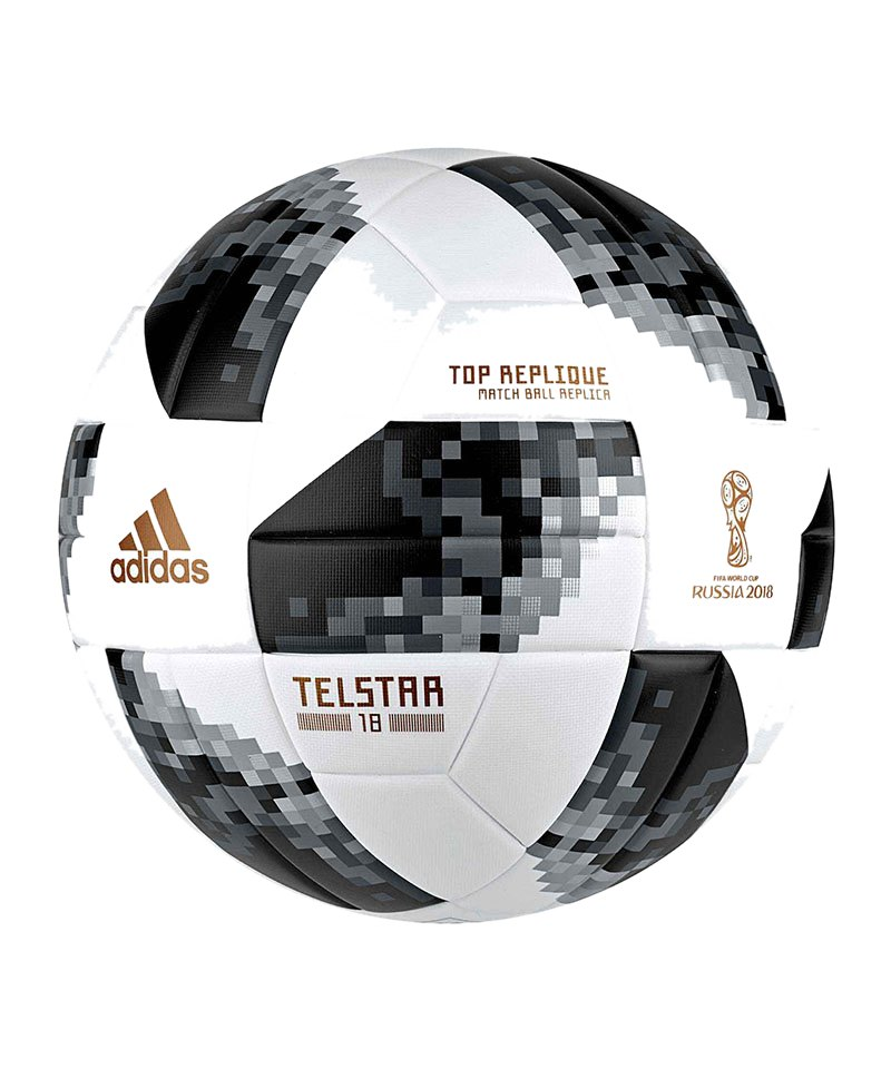adidas Telstar Top Replique Fussball Xmas WM 2018 - weiss