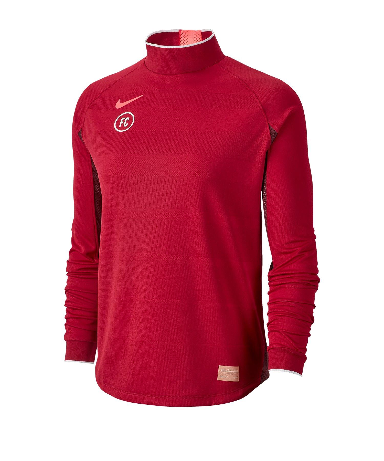 Nike F.C. Dri-FIT Trainingsweatshirt Damen F620 - rot