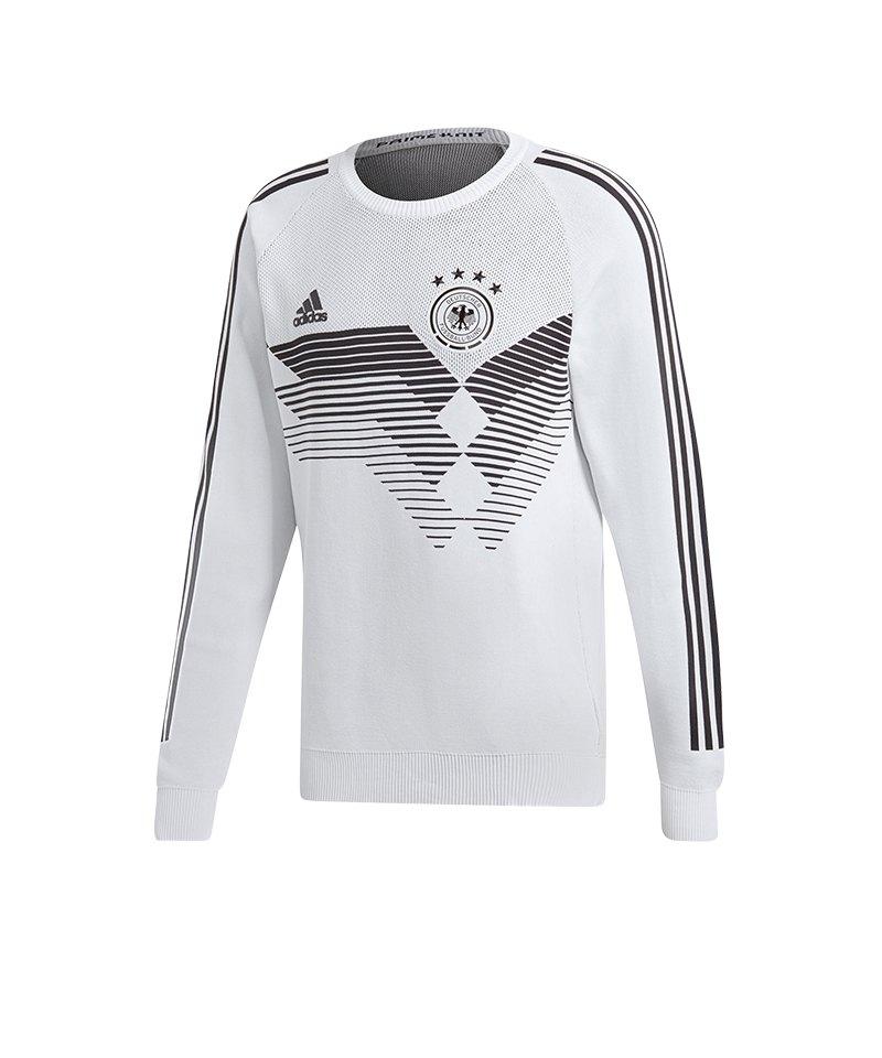 adidas DFB Deutschland Sweatshirt Home Knit Weiss - weiss