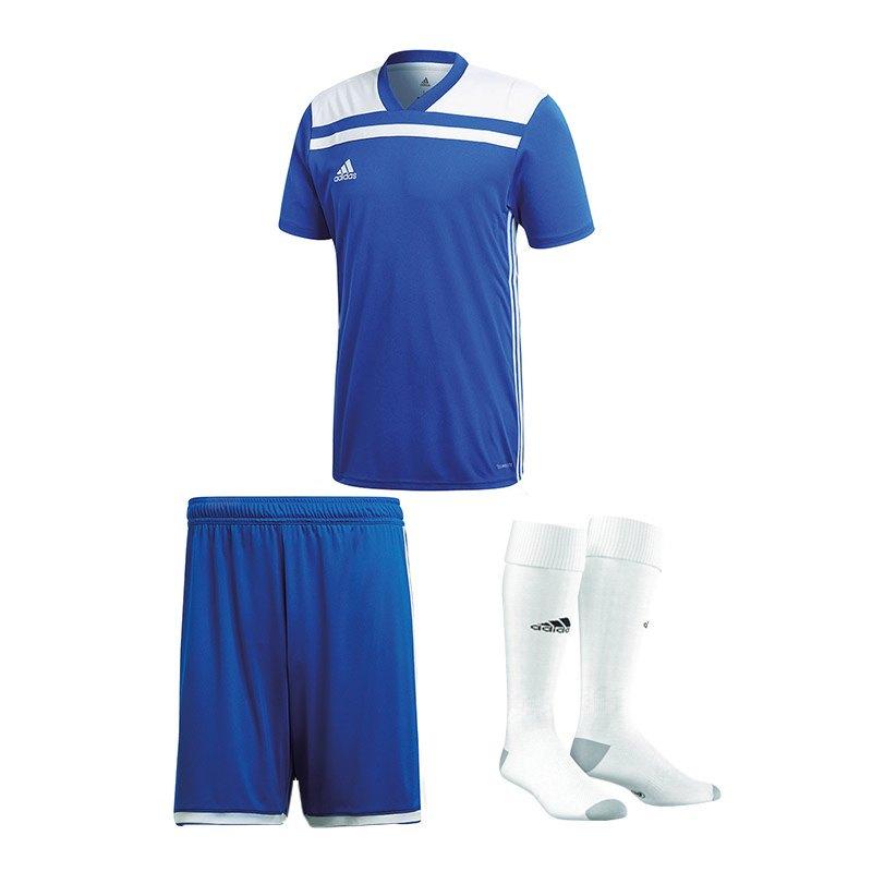 adidas Trikotset Regista 18 Blau Weiss - blau