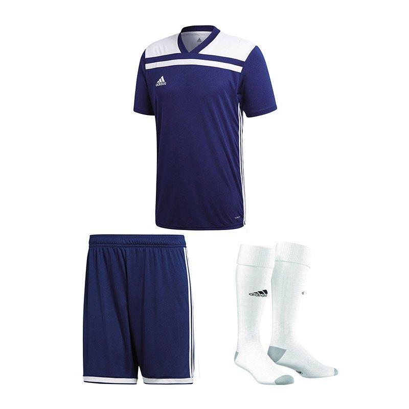 adidas Trikotset Regista 18 Dunkelblau Weiss - blau