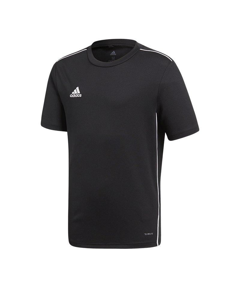 adidas Core 18 Trainingsshirt Kids Schwarz Weiss - schwarz