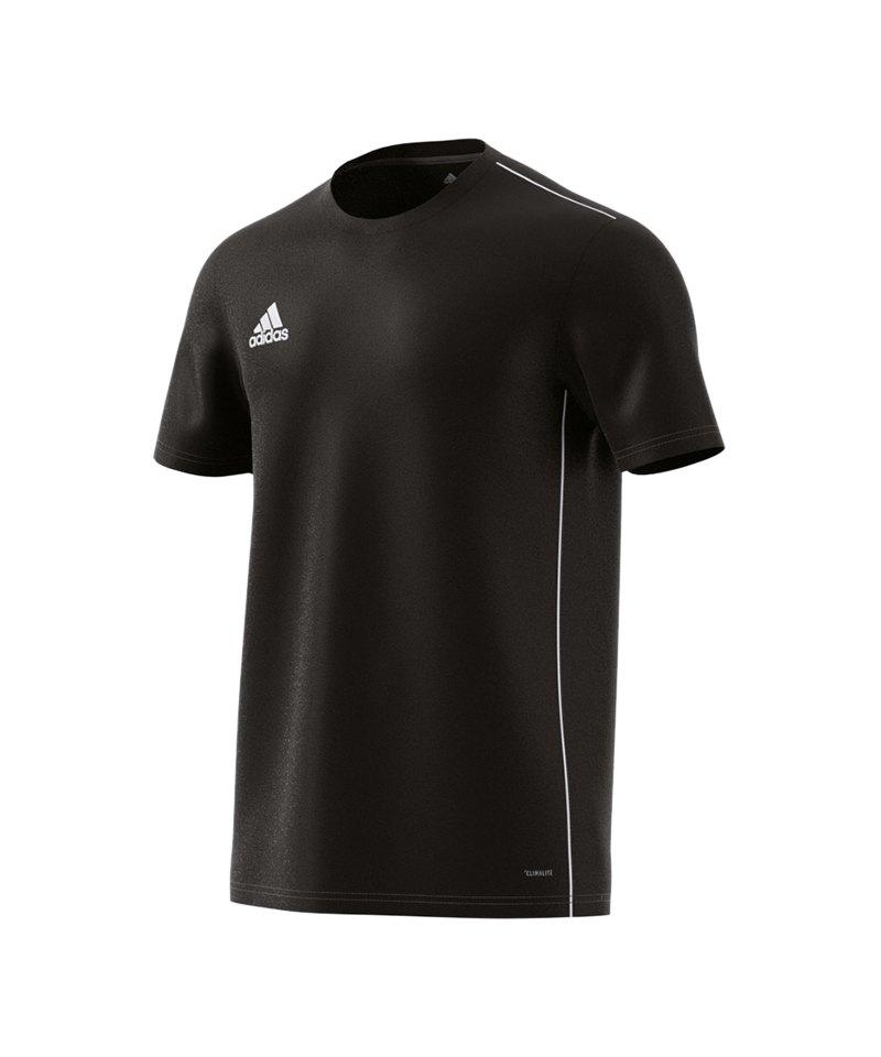 adidas Core 18 Trainingsshirt Schwarz Weiss - schwarz