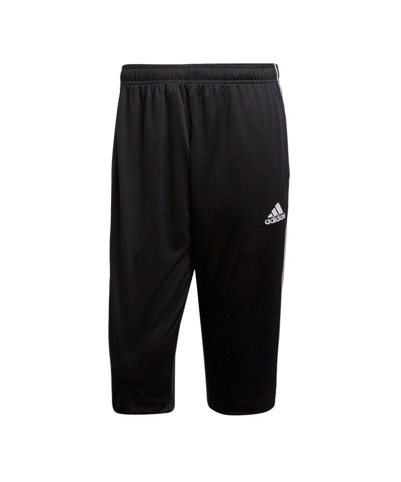 adidas Core 18 3/4 Pant Hose Schwarz Weiss - schwarz
