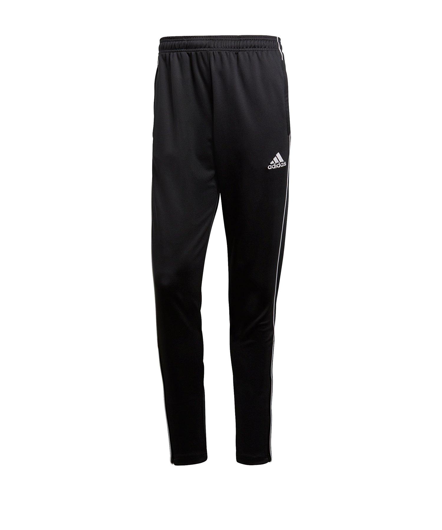 adidas Core 18 Training Pant Schwarz Weiss - schwarz