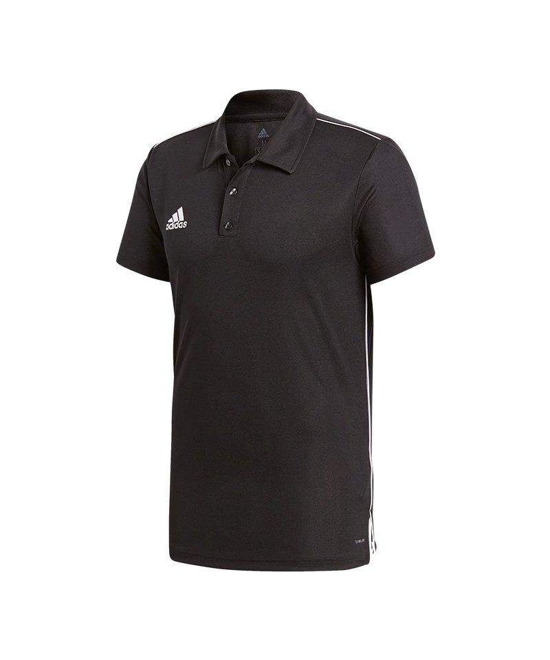 adidas Core 18 ClimaLite Poloshirt Schwarz Weiss - schwarz