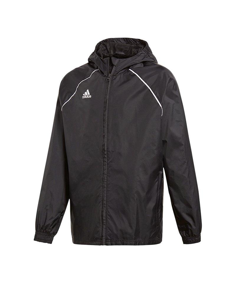 adidas Core 18 Rain Jacket Jacke Kids Schwarz - schwarz