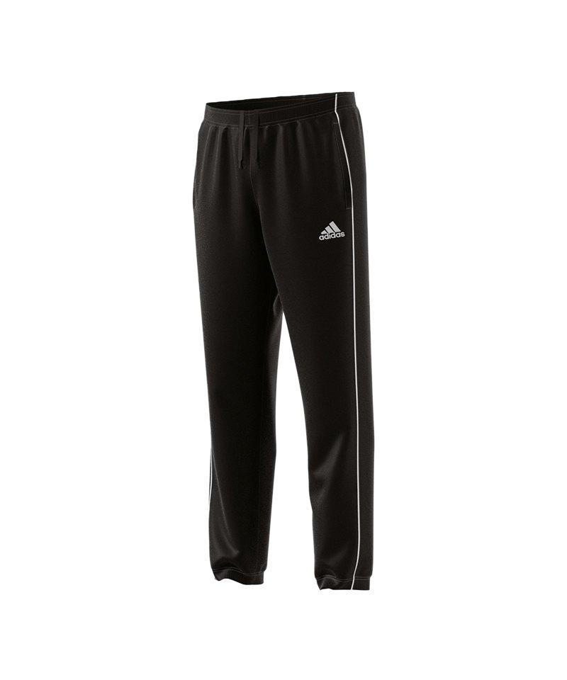 adidas Core 18 Polyesterhose Schwarz Weiss - schwarz