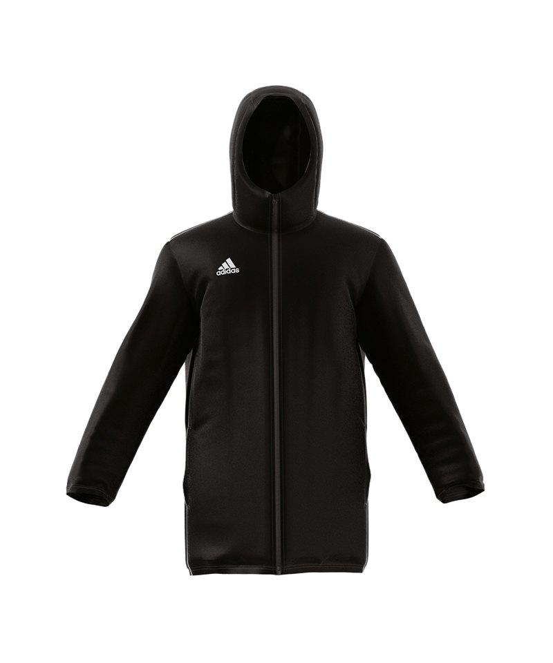adidas Core 18 Stadium Jacket Jacke Schwarz Weiss - schwarz