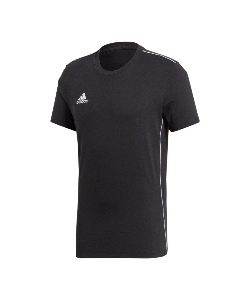 adidas Core 18 Tee T-Shirt Schwarz Weiss - schwarz