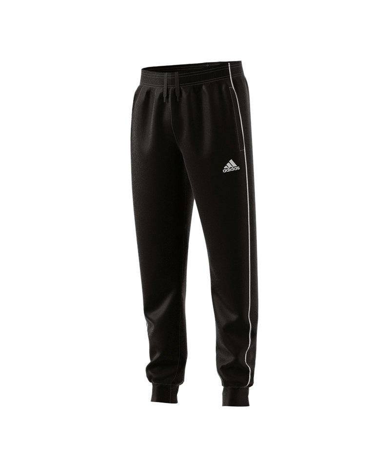 adidas Core 18 Sweat Pant Kids Schwarz Weiss - schwarz