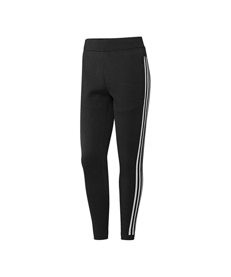 adidas ID Knit Striker Hose lang Damen Schwarz - schwarz