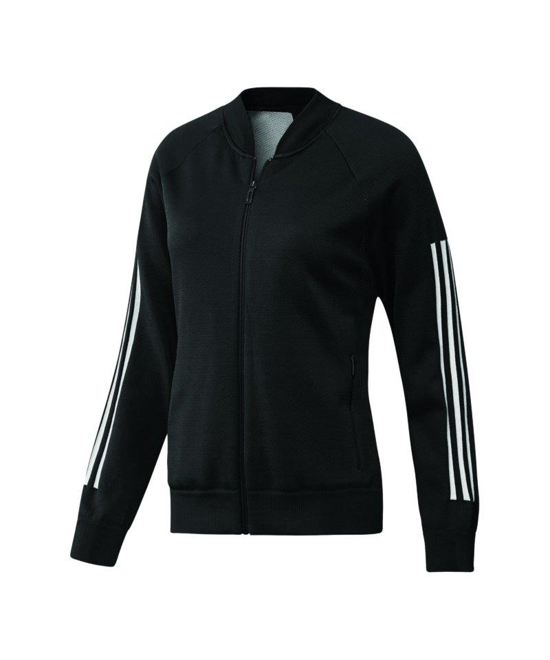 adidas ID Knit Bomber Jacke Damen Schwarz - schwarz
