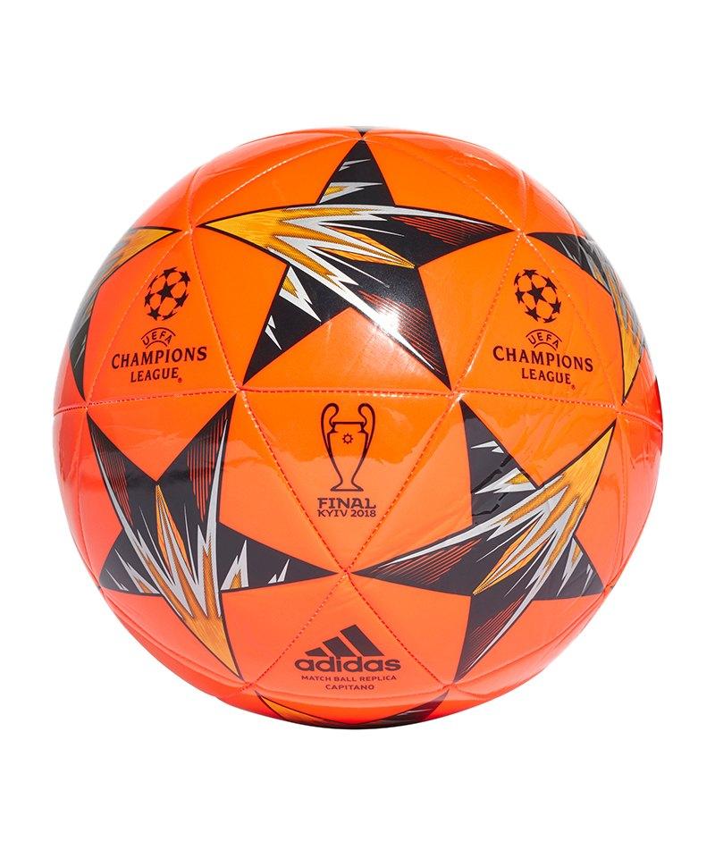 adidas Finale Kiev Cap Trainingsball Rot Schwarz - rot