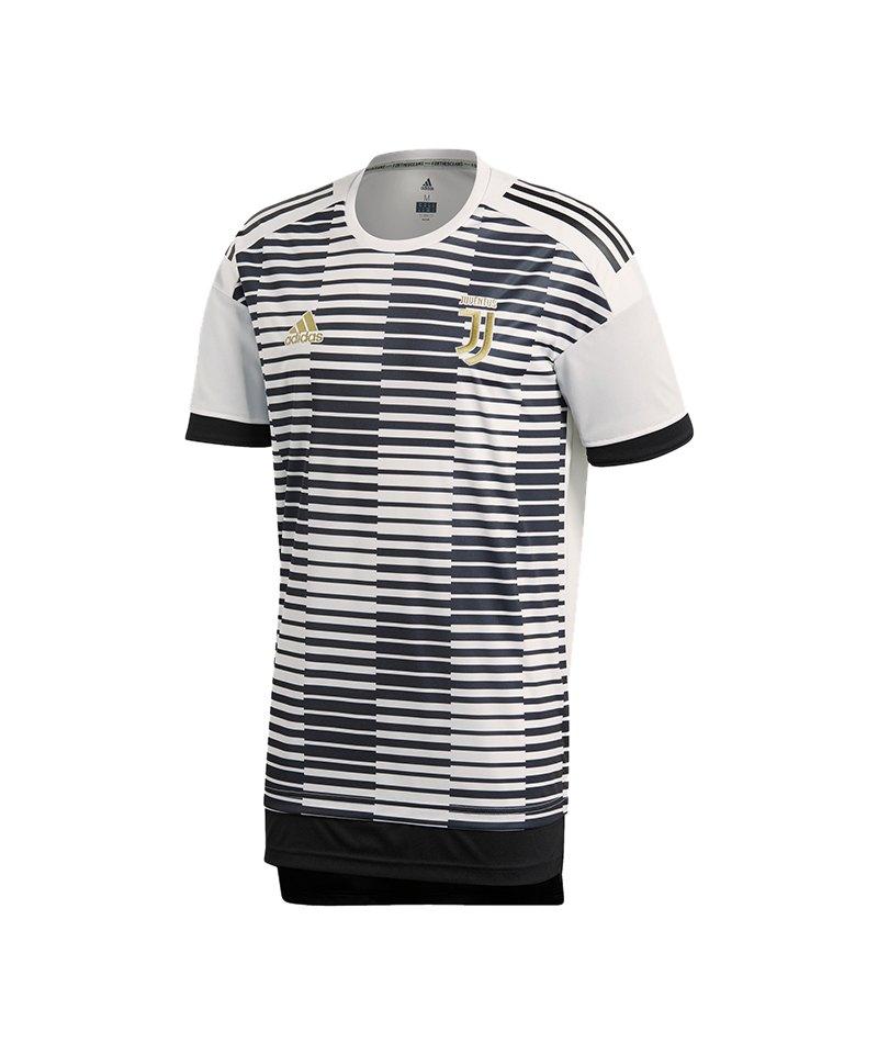 adidas Juventus Turin Prematch Shirt Weiss Schwarz - weiss
