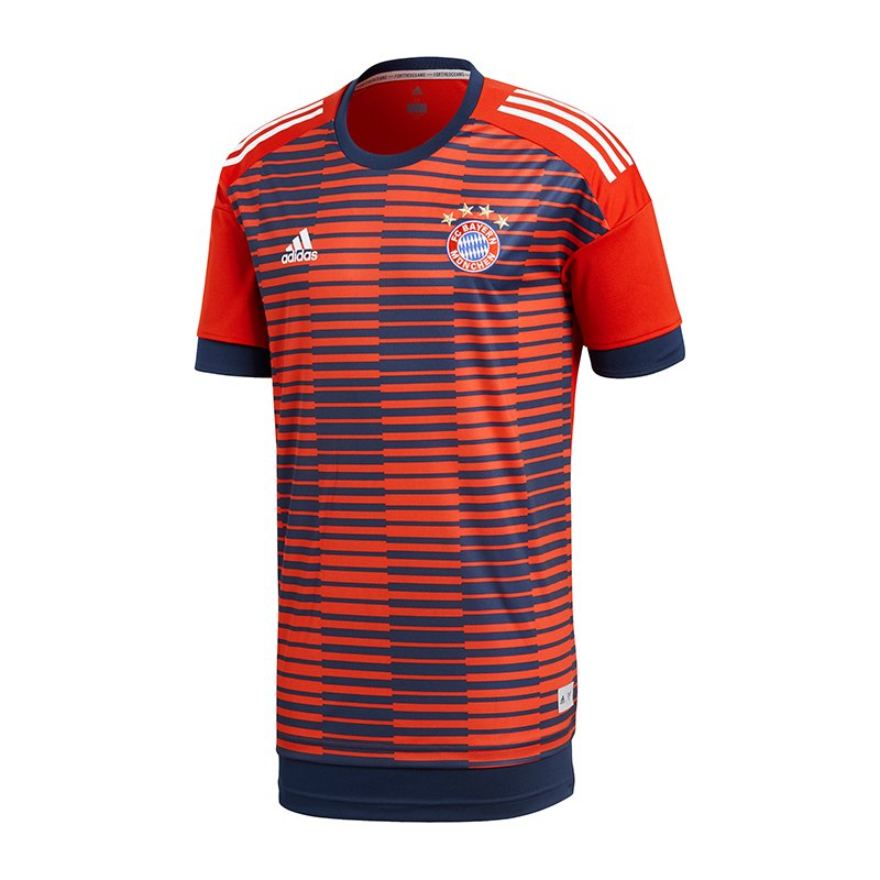 adidas FC Bayern München Prematch Shirt Rot Blau - rot