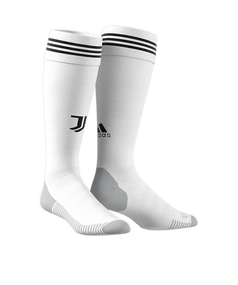adidas FC Juventus Turin Stutzen Home 18/19 Weiss - weiss