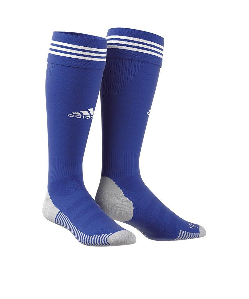 adidas Adisock 18 Stutzenstrumpf Blau Weiss - blau