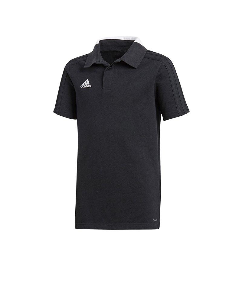 adidas Condivo 18 Cotton Poloshirt Kids Schwarz - schwarz