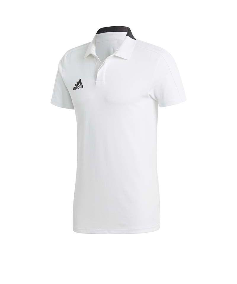 adidas Condivo 18 Cotton Poloshirt Weiss Schwarz - weiss