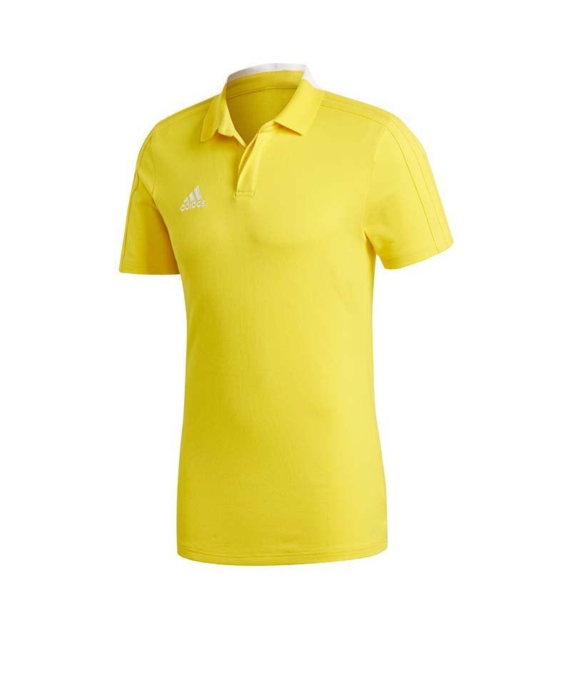 adidas Condivo 18 Cotton Poloshirt Gelb Weiss - gelb