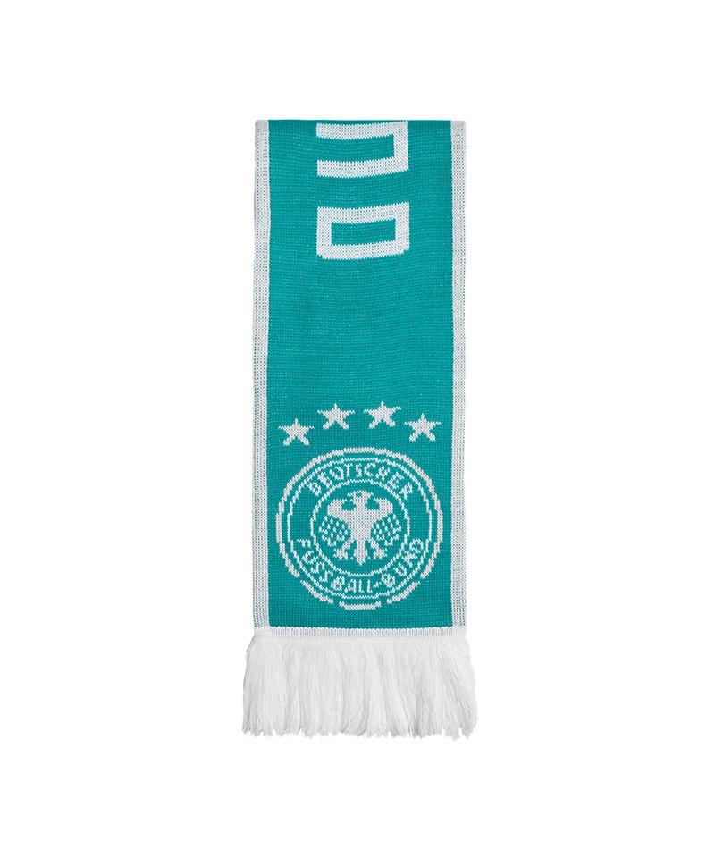 adidas DFB Deutschland Auswärtsschal Grün Weiss - gruen