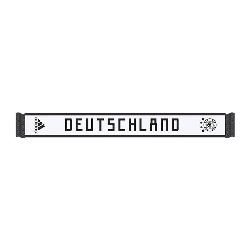adidas DFB Deutschland Schal Weiss Schwarz - weiss
