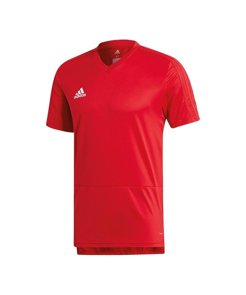 adidas Condivo 18 Training T-Shirt Rot Weiss - rot
