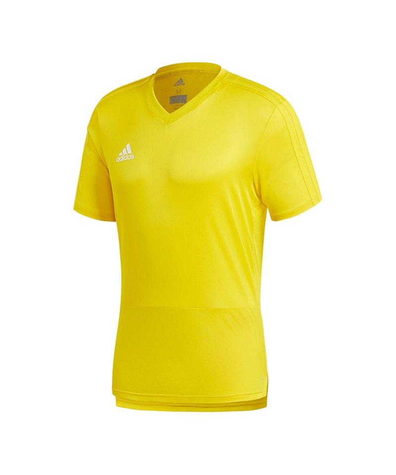 adidas Condivo 18 Training T Shirt Gelb Weiss