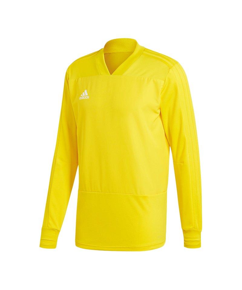 adidas Condivo 18 Sweatshirt Gelb Weiss - gelb