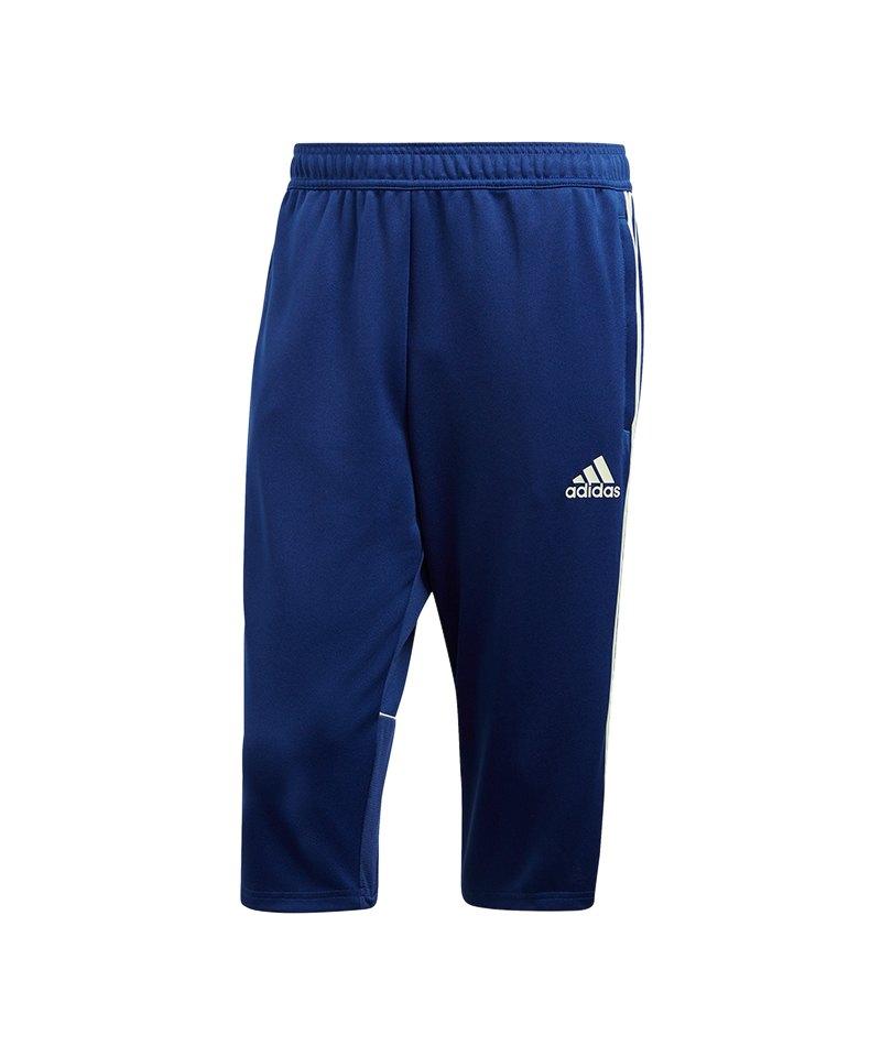 adidas Tango Training 3/4 Pant Blau Weiss - blau