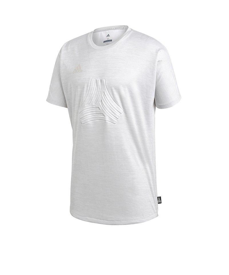 adidas Tango Terry Jersey T-Shirt Grau - grau