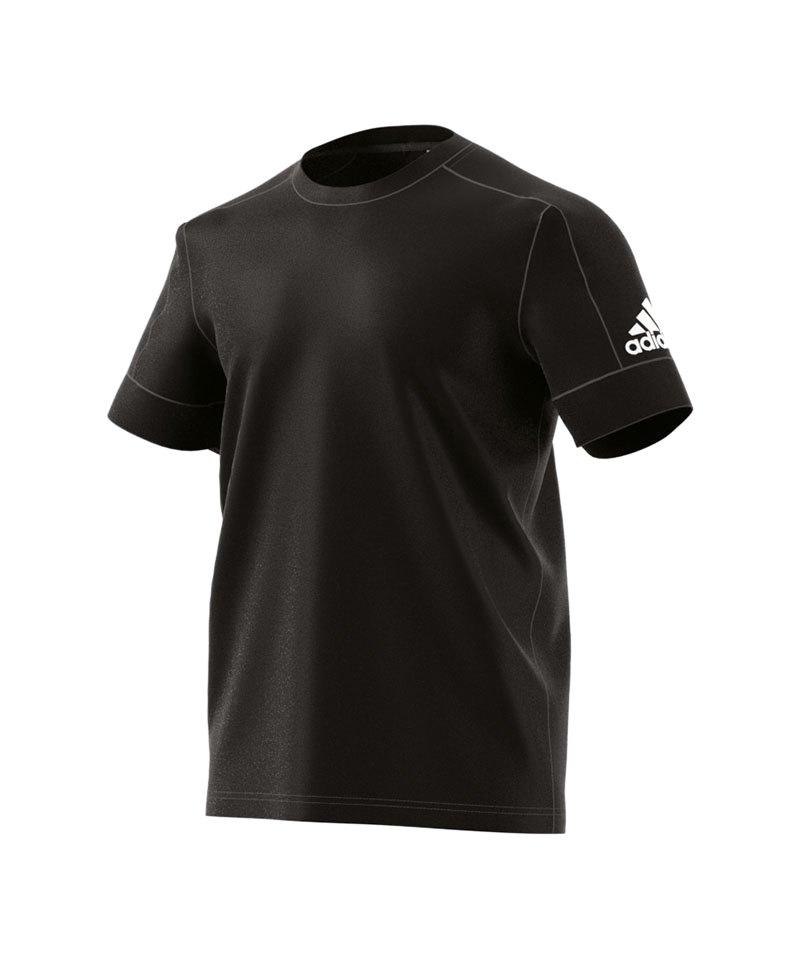 adidas ID Stadium Tee T-Shirt Schwarz Weiss - schwarz